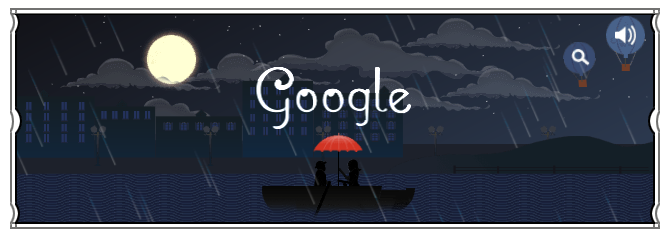 Google doodle for Claude Debussy is exceptional!