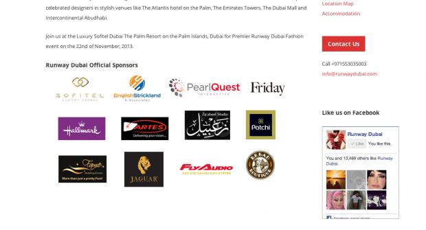 PearlQuest part of a super fashion show Runway Dubai